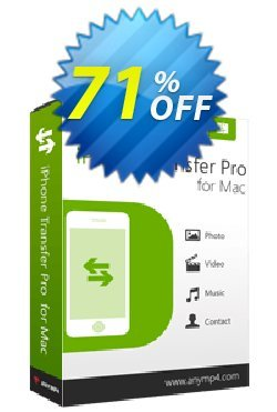 AnyMP4 iPhone Transfer Pro for Mac Coupon discount AnyMP4 coupon (33555) - 50% AnyMP4 promotion