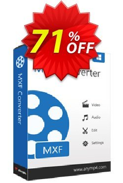 AnyMP4 MXF Converter Lifetime Coupon discount AnyMP4 coupon (33555) -