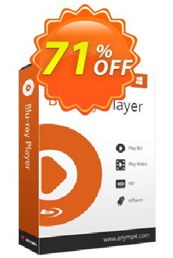 AnyMP4 Blu-ray Player Lifetime Coupon discount AnyMP4 coupon Blu-ray Player  (33555) -