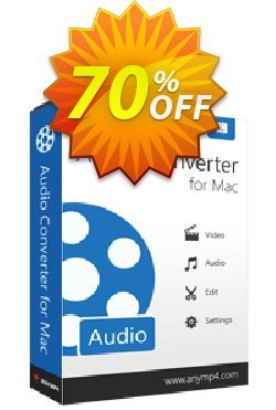 AnyMP4 Audio Converter for Mac Coupon discount AnyMP4 coupon (33555). Promotion: