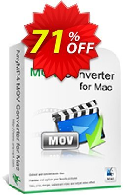 AnyMP4 MOV Converter for Mac Lifetime License Coupon discount AnyMP4 coupon (33555) - 50% AnyMP4 promotion