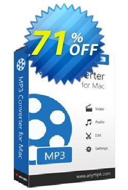 AnyMP4 MP3 Converter for Mac Lifetime Coupon discount AnyMP4 coupon (33555) - AnyMP4 MP3 Converter for Mac Lifetime license promotion