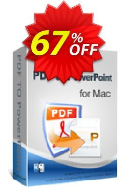 iPubsoft PDF to PowerPoint Converter for Mac Coupon discount 65% disocunt -