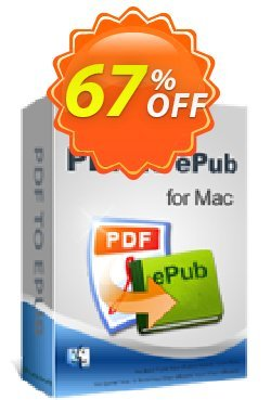 iPubsoft PDF to ePub Converter for Mac Coupon, discount 65% disocunt. Promotion: