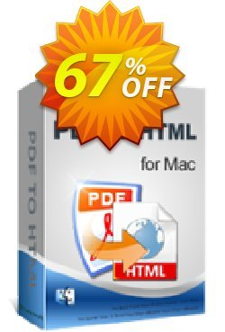 iPubsoft PDF to HTML Converter for Mac Coupon, discount 65% disocunt. Promotion: