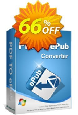 iPubsoft PDF to ePub Converter Coupon, discount 65% disocunt. Promotion:
