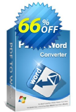 iPubsoft PDF to Word Converter Coupon, discount 65% disocunt. Promotion: