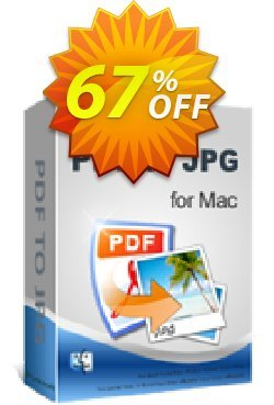 iPubsoft PDF to JPG Converter for Mac Coupon, discount 65% disocunt. Promotion:
