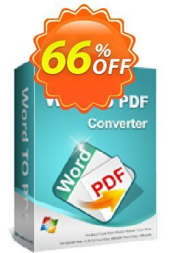 iPubsoft Word to PDF Converter Coupon, discount 65% disocunt. Promotion: