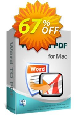 iPubsoft Word to PDF Converter for Mac Coupon, discount 65% disocunt. Promotion:
