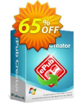 iPubsoft ePub Creator for Windows Coupon, discount 65% disocunt. Promotion: