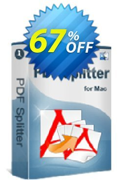iPubsoft PDF Splitter for Mac Coupon, discount 65% disocunt. Promotion: