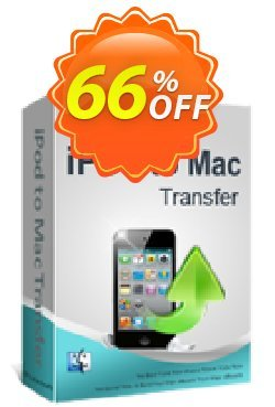iPubsoft iPod to Mac Transfer Coupon, discount 65% disocunt. Promotion: