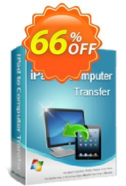 iPubsoft iPad to Computer Transfer Coupon, discount 65% disocunt. Promotion: