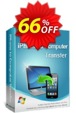 iPubsoft iPhone to Computer Transfer Coupon, discount 65% disocunt. Promotion: