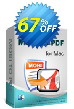 iPubsoft MOBI to PDF Converter for Mac Coupon, discount 65% disocunt. Promotion: