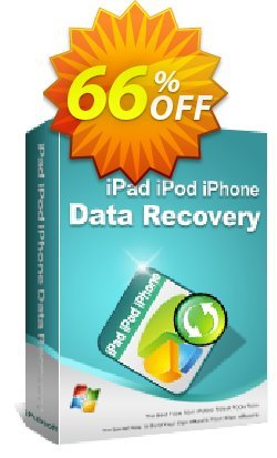 iPubsoft iPad/iPod/iPhone Data Recovery Coupon, discount 65% disocunt. Promotion: