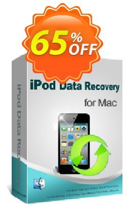 iPubsoft iPod Data Recovery for Mac Coupon, discount 65% disocunt. Promotion: