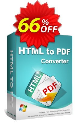 iPubsoft HTML to PDF Converter Coupon, discount 65% disocunt. Promotion:
