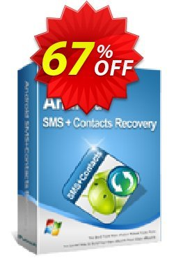 iPubsoft Android SMS+Contacts Recovery Coupon, discount 65% disocunt. Promotion: