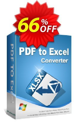 iPubsoft PDF to Excel Converter Coupon, discount 65% disocunt. Promotion: