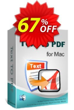 iPubsoft Text to PDF Converter for Mac Coupon, discount 65% disocunt. Promotion: