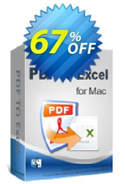iPubsoft PDF to Excel Converter for Mac Coupon, discount 65% disocunt. Promotion: