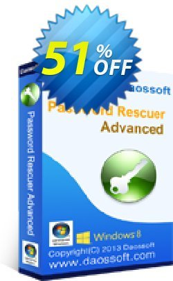 Daossoft Password Rescuer Advanced Coupon, discount 40% daossoft (36100). Promotion: 40% daossoft (36100)