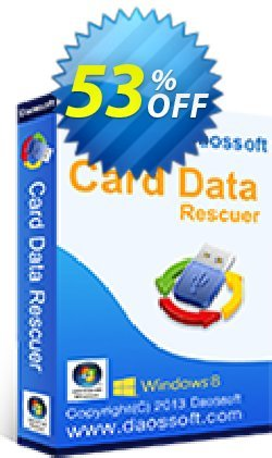 Daossoft Card Data Rescuer Coupon, discount 30% daossoft (36100). Promotion: 30% daossoft (36100)