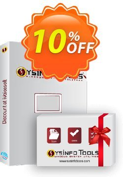 SysInfoTools Add Outlook PST Coupon, discount SYSINFODISCOUNT. Promotion: Coupon code for SysInfo tools software