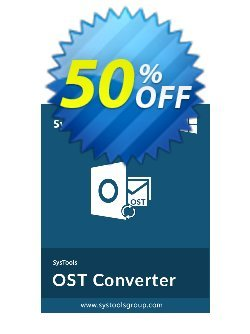 SysTools OST Converter - Technician License  Coupon discount 25% OFF SysTools OST Converter (Technician License), verified. Promotion: Awful sales code of SysTools OST Converter (Technician License), tested & approved