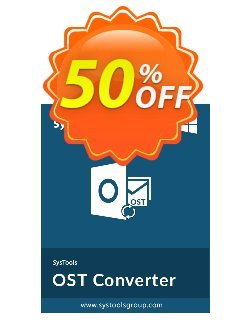 SysTools OST Converter - Corporate License  Coupon discount 25% OFF SysTools OST Converter (Corporate License), verified. Promotion: Awful sales code of SysTools OST Converter (Corporate License), tested & approved