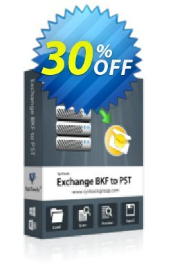 Exchange BKF to PST - Enterprise License Coupon, discount SysTools coupon 36906. Promotion: