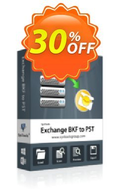 SysTools Exchange BKF to PST - Enterprise License  Coupon discount SysTools coupon 36906. Promotion: