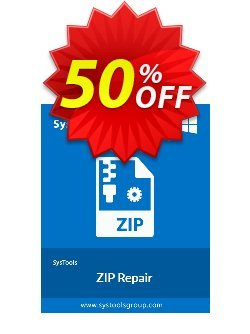 ZIP Repair - Personal License Coupon, discount SysTools coupon 36906. Promotion: