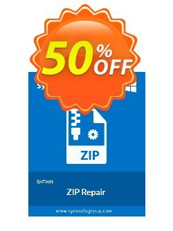ZIP Repair - Business License Coupon, discount SysTools coupon 36906. Promotion: