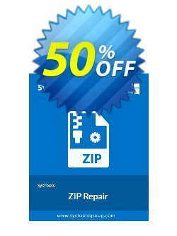 ZIP Repair - Enterprise License Coupon, discount SysTools coupon 36906. Promotion: