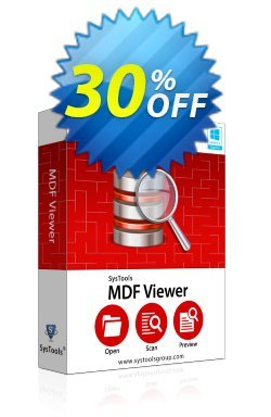 SysTools MDF Viewer Pro - Enterprise License  Coupon discount SysTools coupon 36906 - SysTools promotion codes 36906