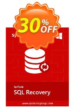 SQL Recovery - Personal License Coupon, discount SysTools coupon 36906. Promotion: