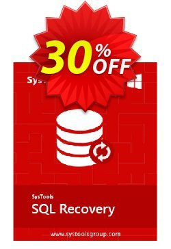 SQL Recovery - Corporate License Coupon, discount SysTools coupon 36906. Promotion:
