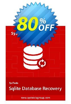 SQLite Database Recovery - Personal License Coupon, discount SysTools coupon 36906. Promotion: