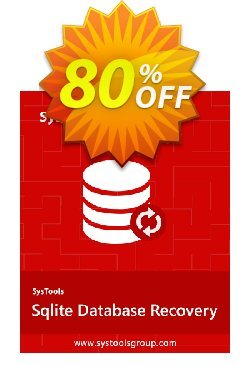 SQLite Database Recovery - Enterprise License Coupon, discount SysTools coupon 36906. Promotion: