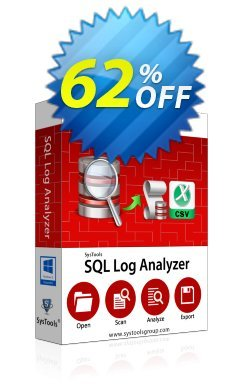 SQL Log Analyzer - Personal License Coupon, discount SysTools coupon 36906. Promotion: