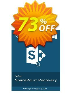 SharePoint Recovery - Personal License Coupon, discount SysTools coupon 36906. Promotion: