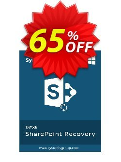 SharePoint Recovery - Enterprise License Coupon, discount SysTools coupon 36906. Promotion:
