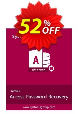 Access Password Recovery - Personal License Coupon, discount SysTools coupon 36906. Promotion: