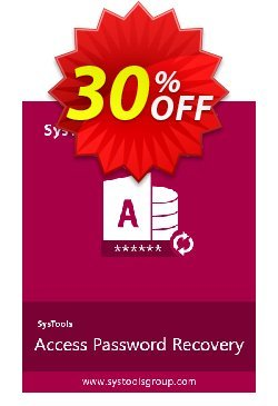 Access Password Recovery - Business License Coupon, discount SysTools coupon 36906. Promotion: