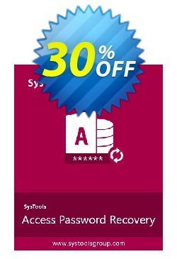 Access Password Recovery - Enterprise License Coupon, discount SysTools coupon 36906. Promotion: