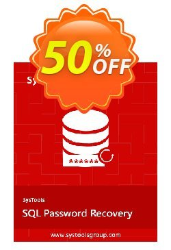 SysTools  SQL Password Recovery Coupon discount SysTools Summer Sale -