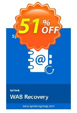 SysTools WAB Recovery Coupon discount SysTools Summer Sale -